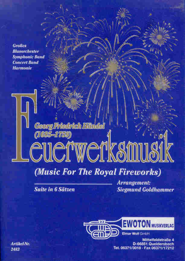 Feuerwerksmusik (Music for the Royal Fireworks) - click for larger image