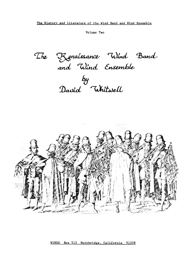 Renaissance Wind Band and Wind Ensemble, The #2 - click here