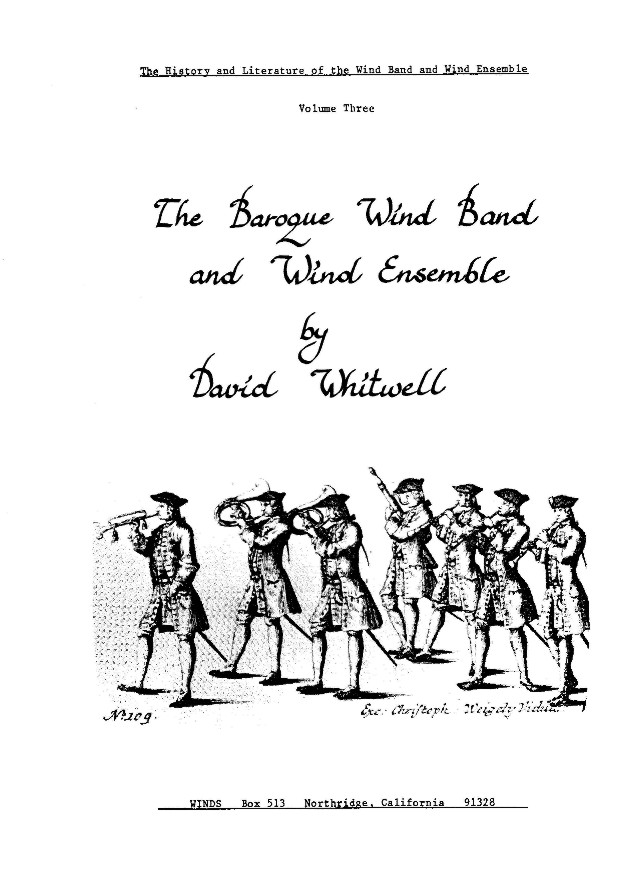 Baroque Wind Band and Wind Ensemble, The #3 - click here