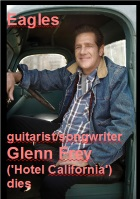 2016-01-23 Eagles guitarist/songwriter Glenn Frey ('Hotel California') dies - click here