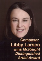 2016-06-20 Composer Libby Larsen wins McKnight Distinguished Artist Award - click here