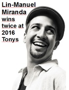 2016-06-14 Lin-Manuel Miranda wins twice at 2016 Tonys - click here