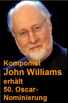 2016-01-23 Komponist John Williams erh�lt 50. Oscar-Nominierung - hier klicken