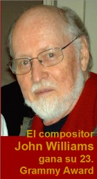 2017-03-09 El compositor John Williams gana su 23. Grammy - hacer clic aquí