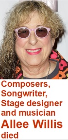 2020-01-27 Songwriter Allee Willis died - click here