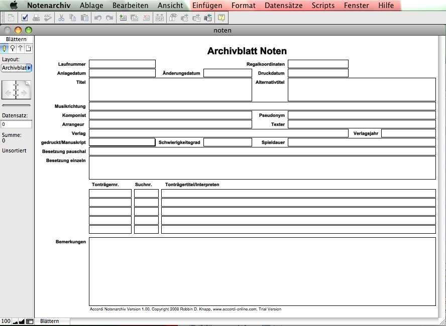 Accordi Notenarchiv Version 1.0 Mac - hier klicken